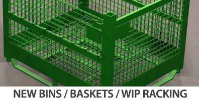new bins / baskets / wip racking
