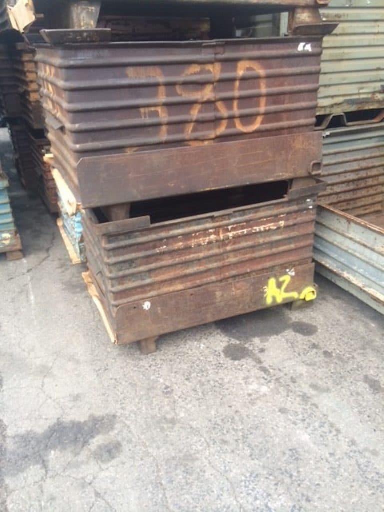 Item #461: Steel Drop Bottom Bins 48″ X 33″ X 30″ O/h