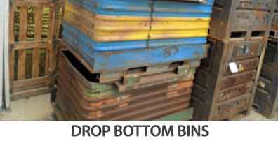 drop bottom bins