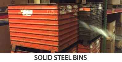 solid steel bins