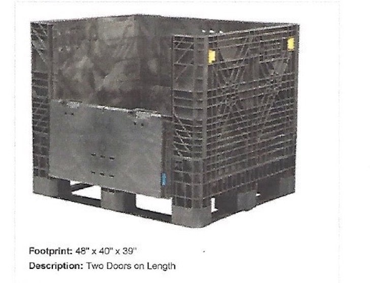 Item 526 Plastic Collapsible Bins With Lids 40 X 48 X