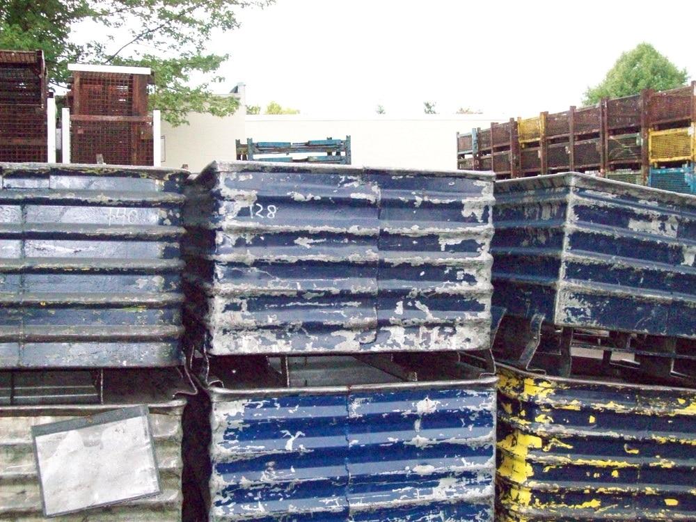 steel corrugated bins used
