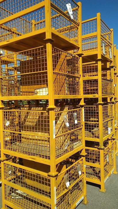 used steel mesh industrial baskets