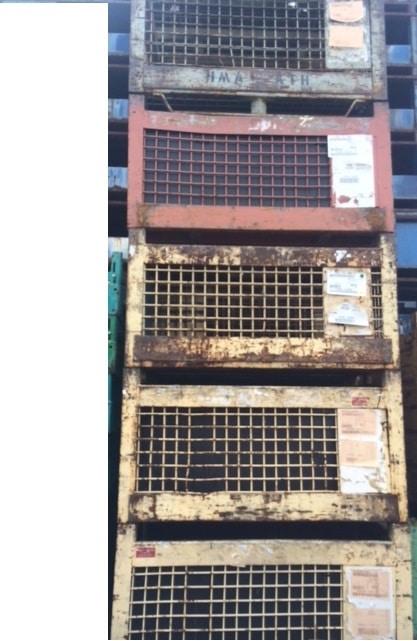 industrial steel mesh baskets for sale