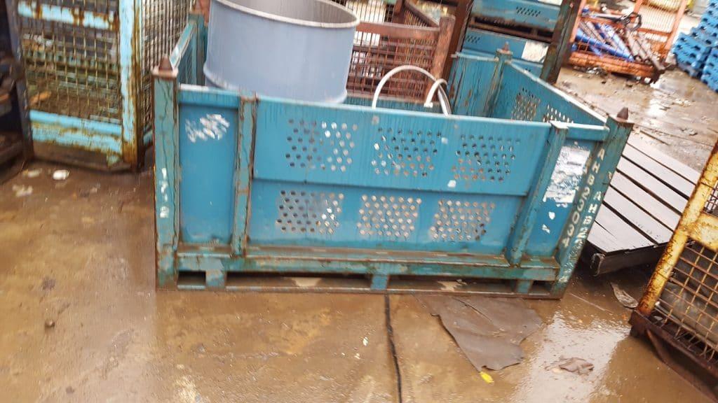 steel vented bins used