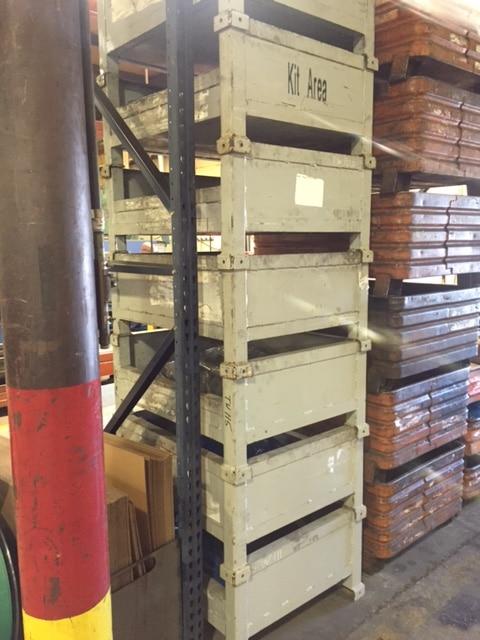 used steel bins