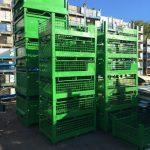 used steel mesh baskets