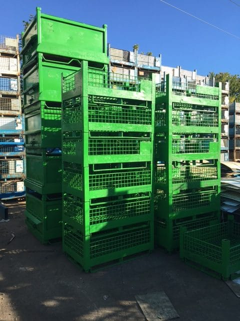 used steel mesh baskets