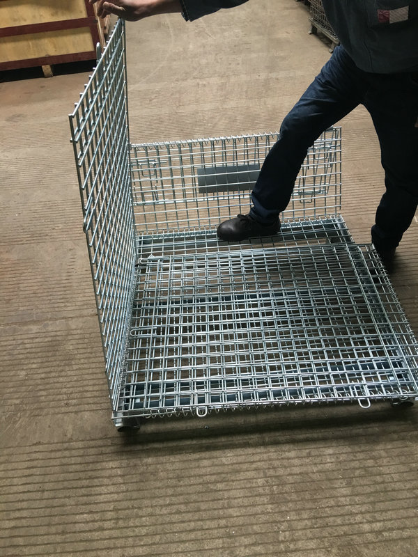 steel mesh collapsible baskets for sale