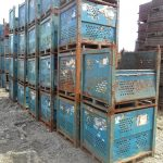 used steel vented bins