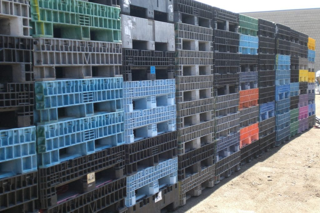 used plastic collapsible bins